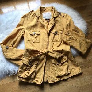 Anthropologie Cartonnier Yellow Nepal Cargo Jacket
